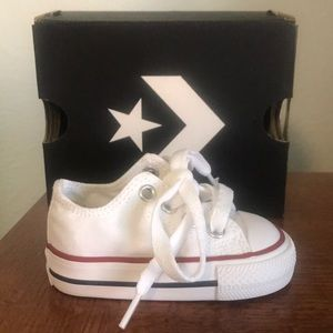 Converse All Star White Low-Top Baby Shoe